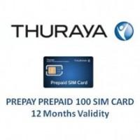 THURAYA Prepay 100 SIM Card (12 Months Validity)