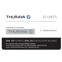 THURAYA Prepay Top Up - 10 Units (Soft PIN)