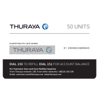 Thuraya Prepay Top Up - 50 Units (Soft PIN)